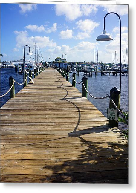 The Naples City Dock Greeting Card