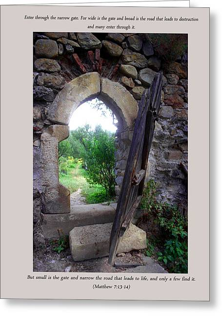 The Narrow Gate Greeting Card