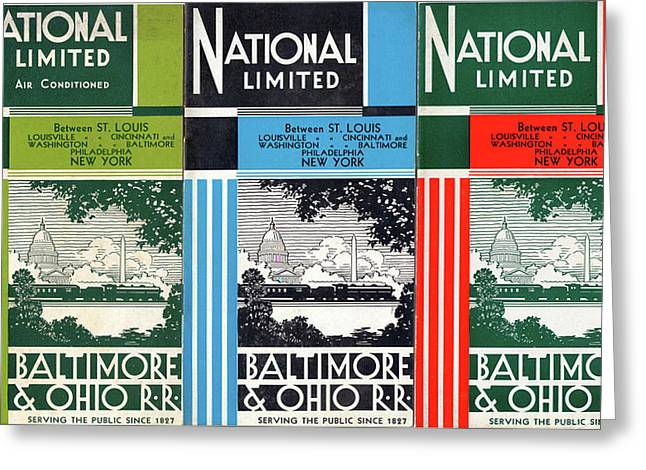The National Limited Collage Greeting Card