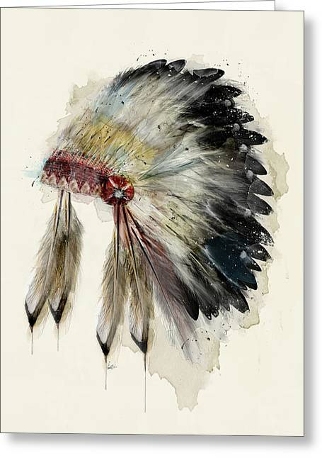 The Native Headdress Greeting Card