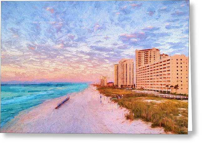 The Navarre Skyline Greeting Card by JC Findley