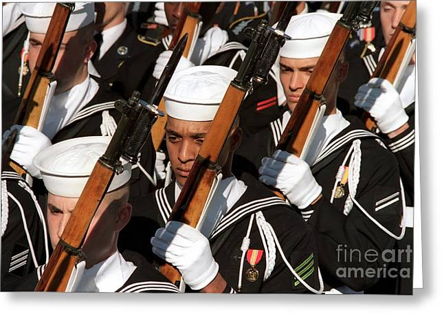 The Navy Ceremonial Honor Guard Greeting Card by Stocktrek Images