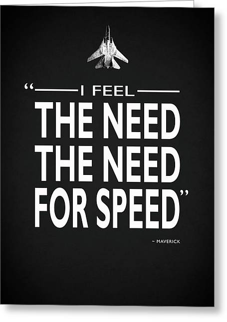 The Need For Speed Greeting Card by Mark Rogan