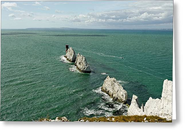The Needles - Isle Of Wight Greeting Card by Rod Johnson