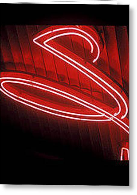 The Neon S  Greeting Card by Billy Tucker