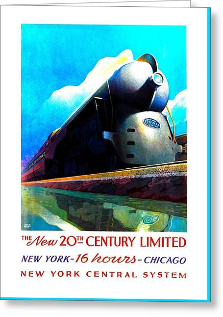 The New 20th Century Limited New York Central System 1939 Leslie Ragan Greeting Card