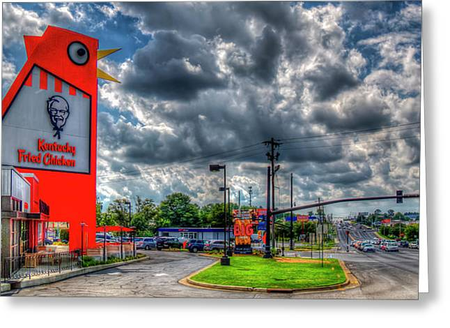 The New Big Chicken 2 Hwy 41 Cobb Parkway Art Greeting Card