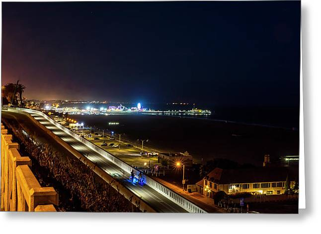 The New California Incline - Night Greeting Card