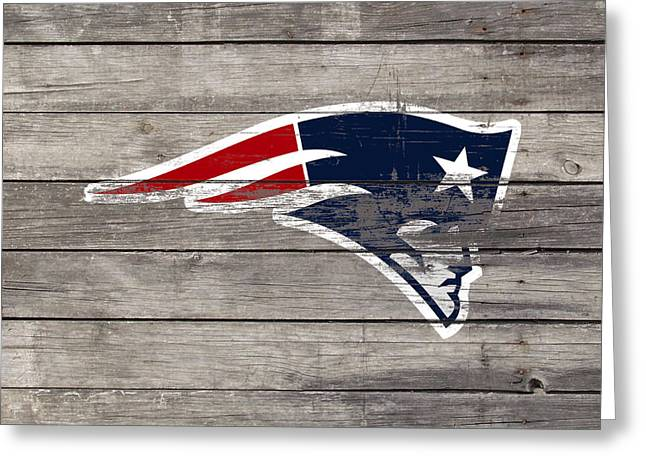 The New England Patriots 3c Greeting Card by Brian Reaves