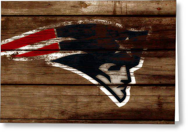 The New England Patriots C1 Greeting Card by Brian Reaves