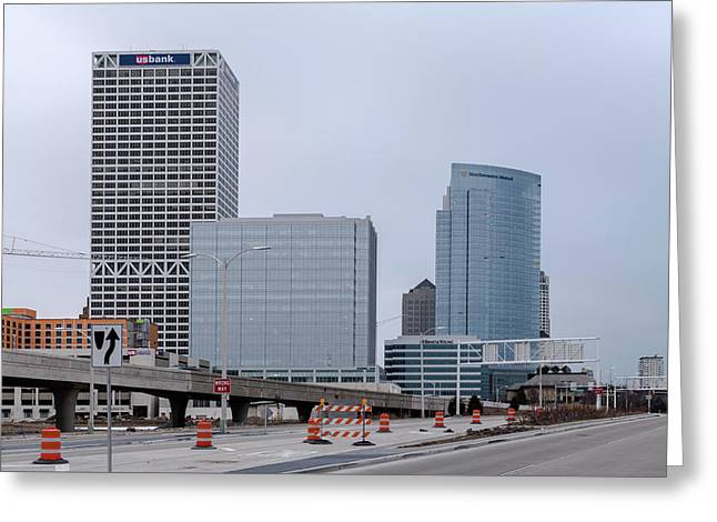 Greeting Card featuring the photograph The New Milwaukee Skyline by Randy Scherkenbach