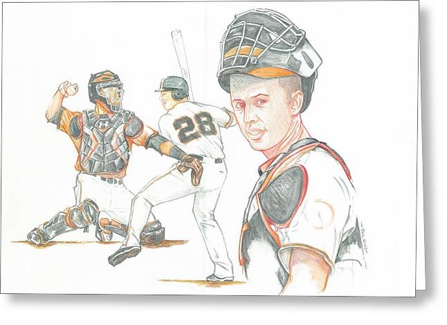The New Natural Buster Posey Greeting Card by Phil  King