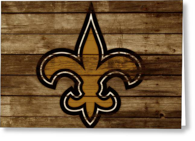 The New Orleans Saints 3a     Greeting Card by Brian Reaves