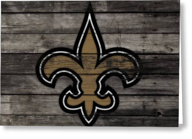 The New Orleans Saints 3b     Greeting Card by Brian Reaves