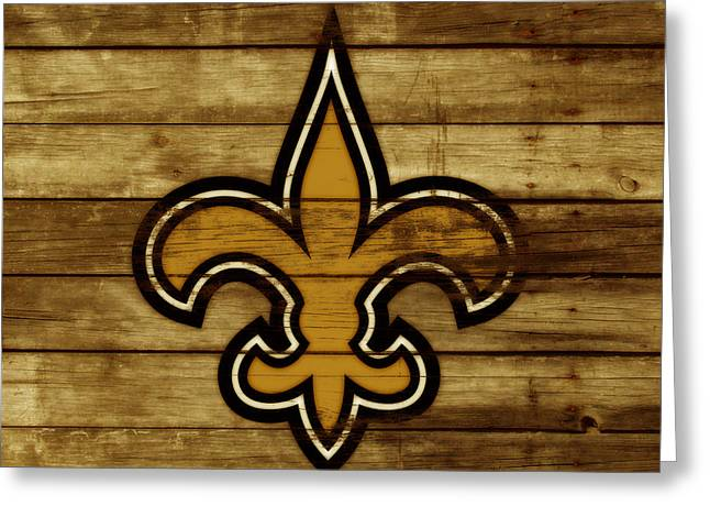 The New Orleans Saints 3c     Greeting Card by Brian Reaves