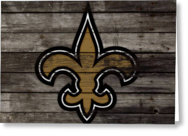 The New Orleans Saints 3e     Greeting Card by Brian Reaves