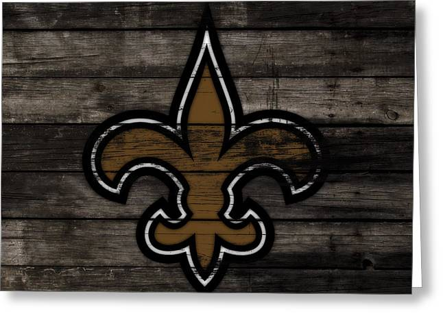 The New Orleans Saints 3f     Greeting Card by Brian Reaves