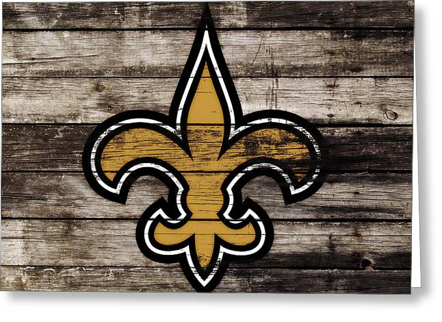 The New Orleans Saints 3h     Greeting Card by Brian Reaves