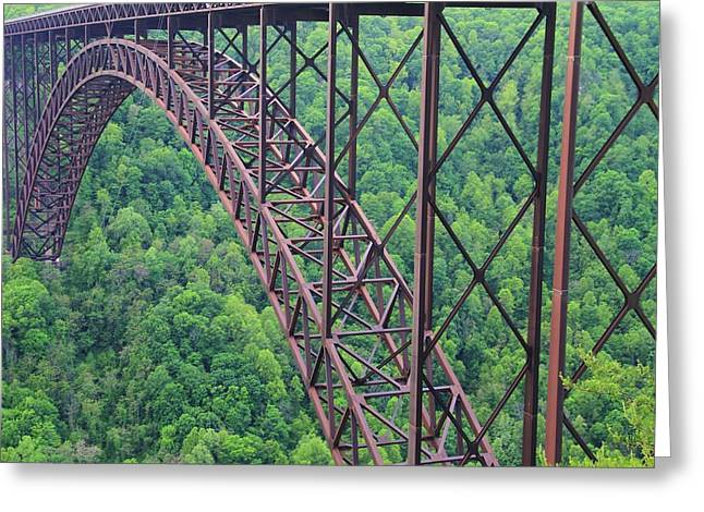 The New River Gorge Bridge Greeting Card by Dan Sproul