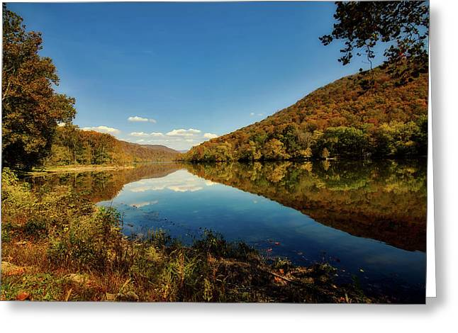 The New River In Autumn Greeting Card by L O C