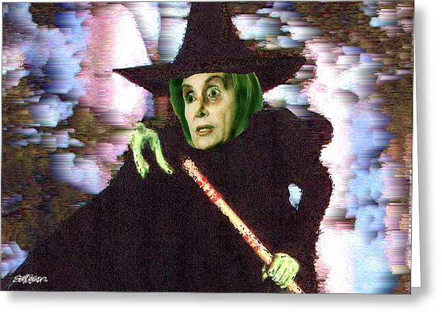 The New Wicked Witch Of The West Greeting Card by Seth Weaver