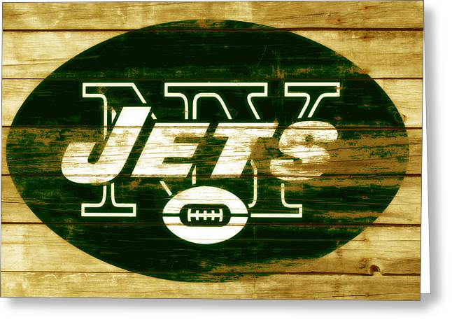 The New York Jets 3a Greeting Card by Brian Reaves