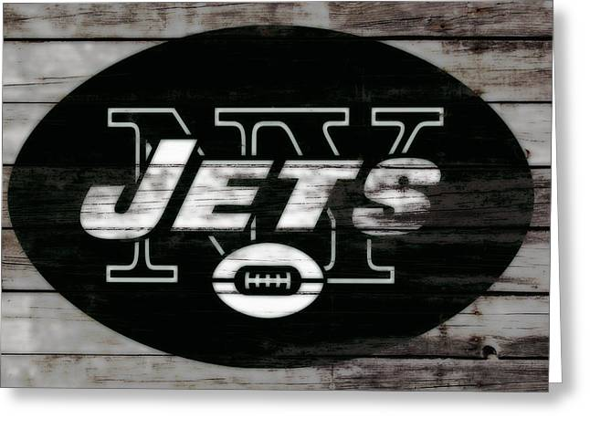 The New York Jets 3c Greeting Card by Brian Reaves