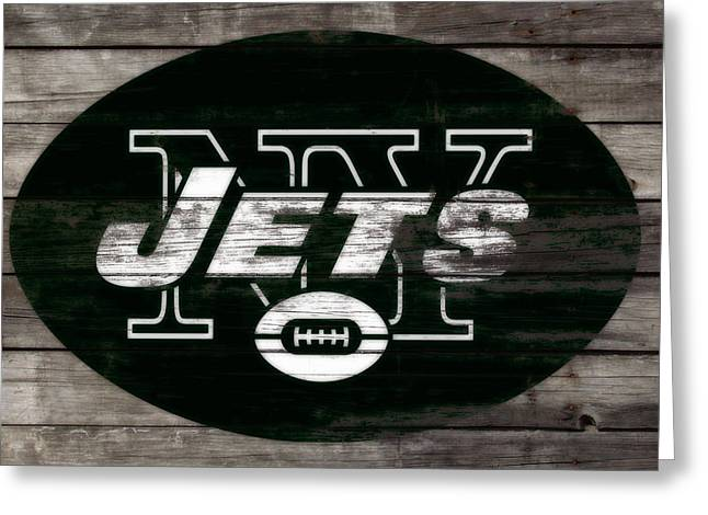 The New York Jets 3f Greeting Card by Brian Reaves