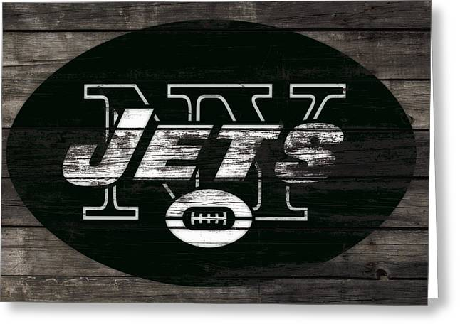 The New York Jets 3h Greeting Card by Brian Reaves