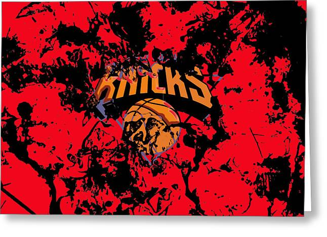 The New York Knicks 1a Greeting Card by Brian Reaves