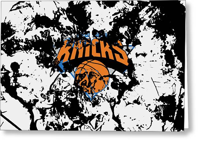 The New York Knicks 1c Greeting Card by Brian Reaves