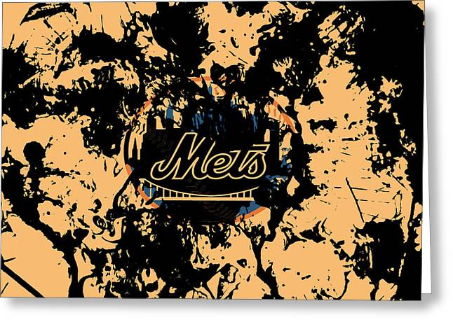 The New York Mets 1a Greeting Card by Brian Reaves