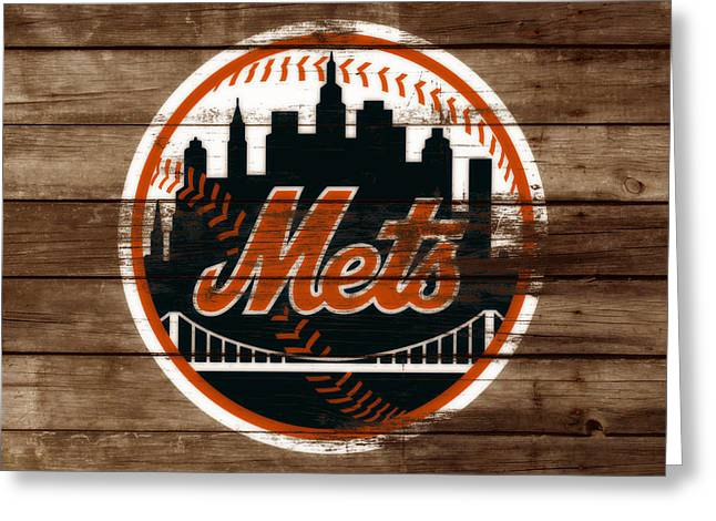 The New York Mets 3a Greeting Card by Brian Reaves