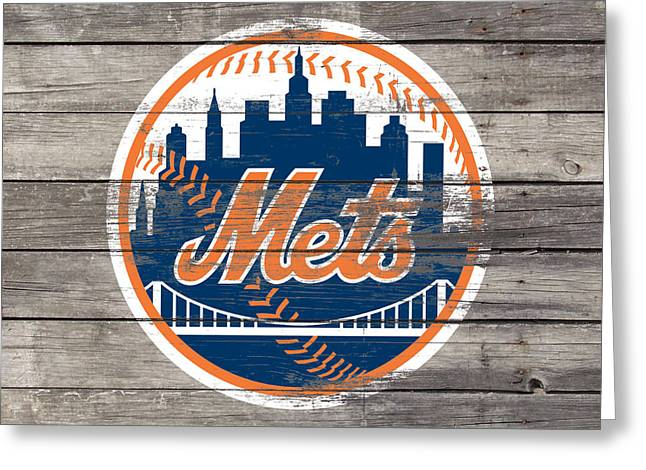 The New York Mets 3c Greeting Card by Brian Reaves