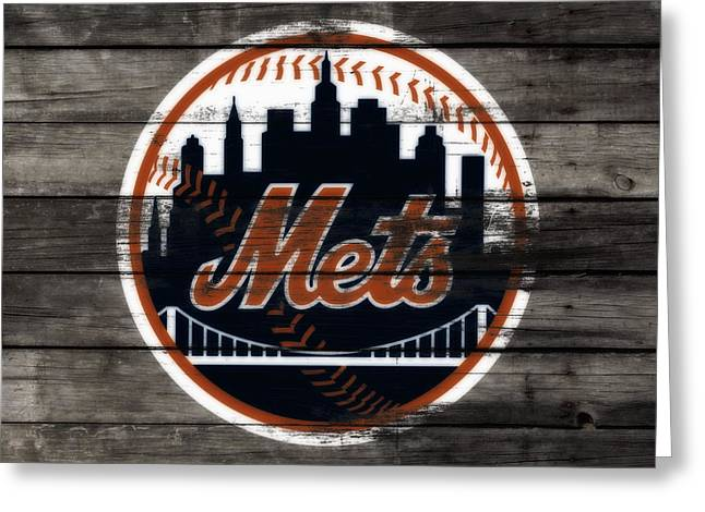 The New York Mets 3e Greeting Card by Brian Reaves