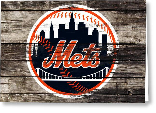 The New York Mets 3f Greeting Card by Brian Reaves