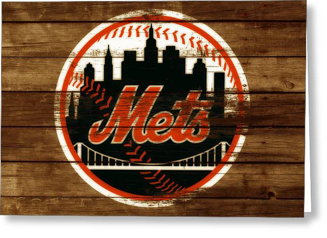 The New York Mets 3h Greeting Card by Brian Reaves