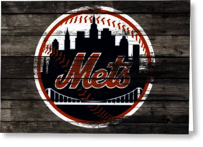 The New York Mets 3j Greeting Card by Brian Reaves