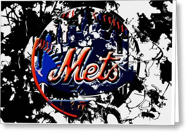 The New York Mets 6a Greeting Card by Brian Reaves