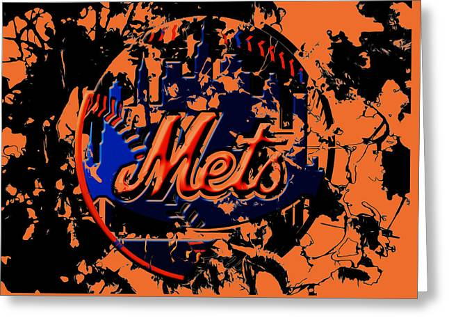 The New York Mets 6b Greeting Card by Brian Reaves