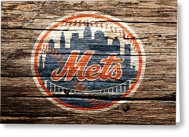 The New York Mets 6c Greeting Card by Brian Reaves