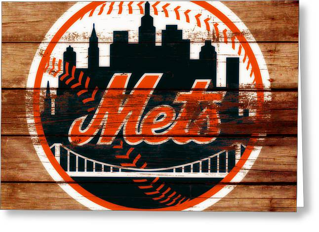 The New York Mets C2 Greeting Card by Brian Reaves