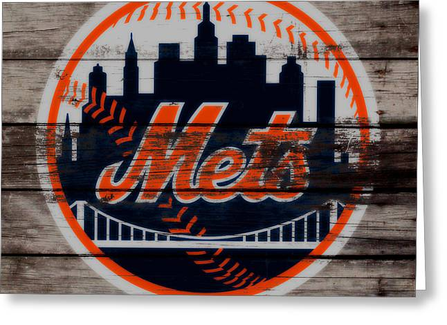 The New York Mets C3 Greeting Card by Brian Reaves