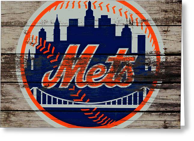 The New York Mets C5 Greeting Card by Brian Reaves