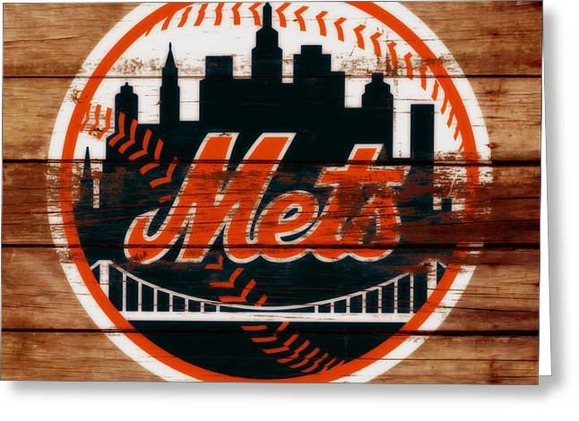 The New York Mets C6 Greeting Card by Brian Reaves