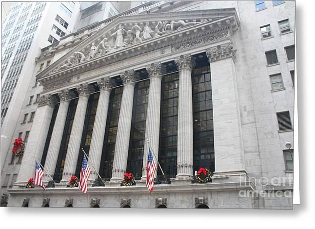 The New York Stock Exchange Greeting Card by John Telfer