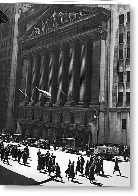 The New York Stock Exchange Greeting Card by Underwood Archives