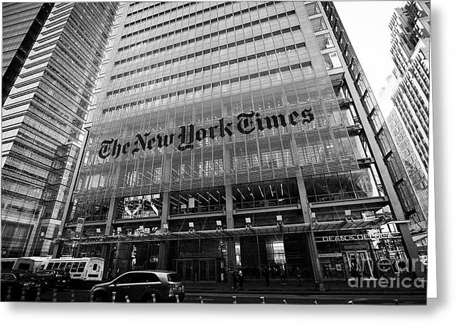 the new york times building New York City USA Greeting Card