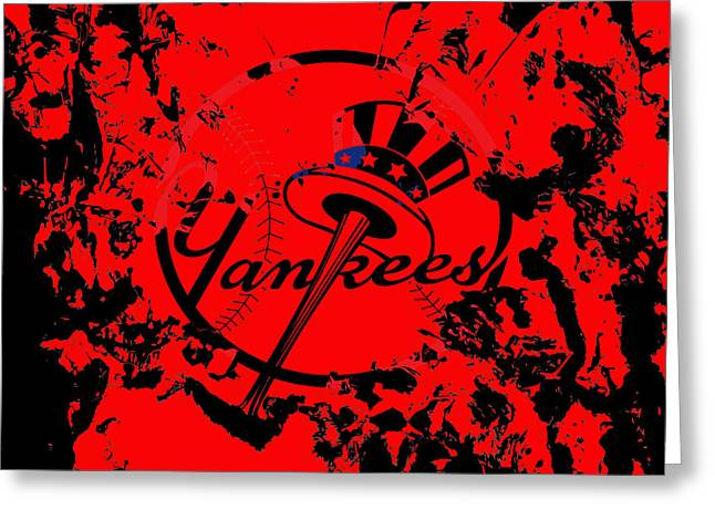 The New York Yankees 1a Greeting Card by Brian Reaves