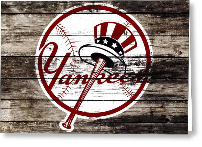 The New York Yankees 3a     Greeting Card by Brian Reaves